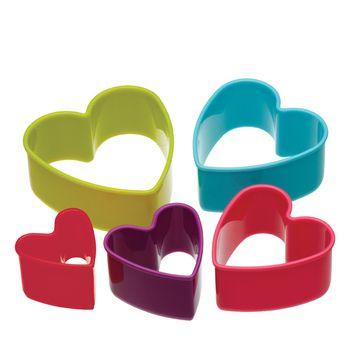 Colourworks Cortadores de galletas - set de 5 piezas