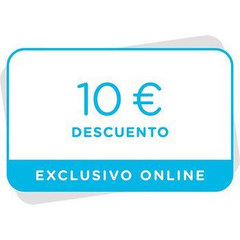 Vale de 10€ de descuento en próxima compra en la tienda online