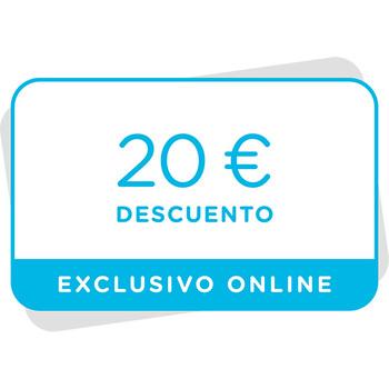 Vale de 20€ de descuento en tu próxima compra en la tienda online