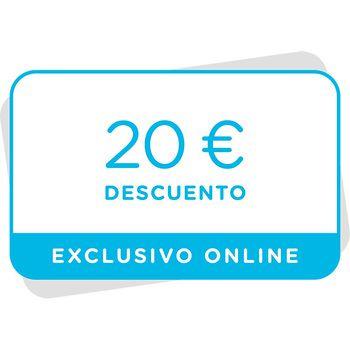 Vale de 20€ de descuento en próxima compra en la tienda online
