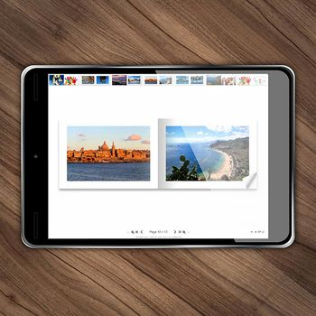 Álbum de fotos digital de Lovephotobooks - formato apaisado