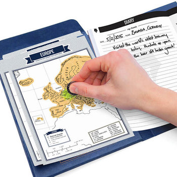 Luckies Travel Journal con 8 Mini Scratch Maps®