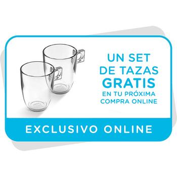 Vale para un set de dos tazas gratis en tu próxima compra online
