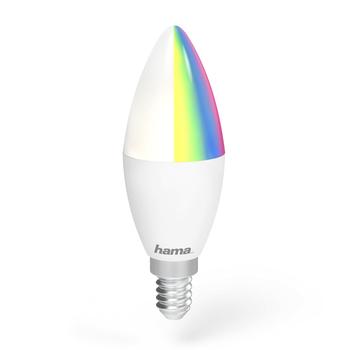 Lámpara Wi-Fi LED de Hama − E14, 4,5W, RGB